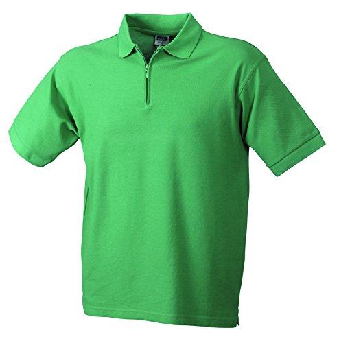 James & Nicholson Herren Poloshirt Polo-Piqué Zip Grün (Green)