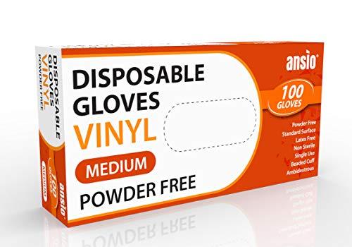 Guantes desechables de vinilo sin polvo