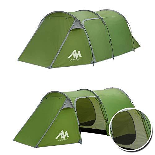 AYAMAYA 2/3 Personen Zelt Wasserdicht, 2/3 MannTunnelzelt Leicht, Campingzelt, Leichtes Trekkingzelt mit Vorraum für Trekking, Camping, Outdoor, Festival