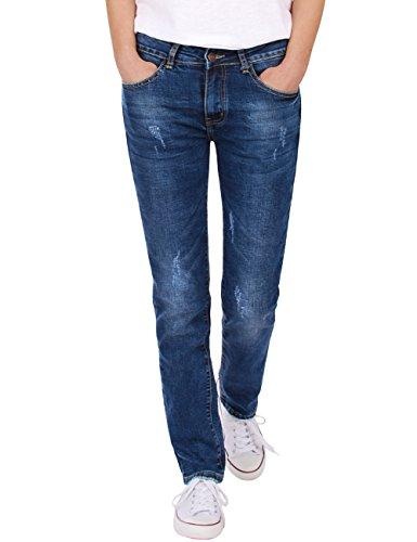 2568b3ad533 Fraternel Pantalones Vaqueros Mujer Straight Used Azul XXL   44
