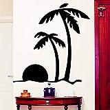 Attraente Coconut Tree Scenery Wall stickers per vetrina Decal per camere da letto soggiorno Roos Home Decoration Sticker Wallpaper 43X45cm