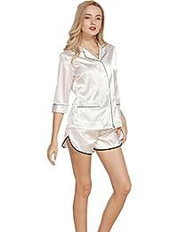 0b744c8354 BOYANN Raso Vestaglie e Kimono Pigiami e Camicie da Notte Allattamento  Donna Accappatoi