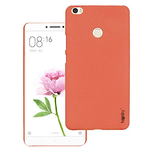 Heartly Premium SandStone Matte Hard Shell Frosted Ultra Thin Bumper Back Case Cover For Xiaomi Mi Max - Mobile Orange