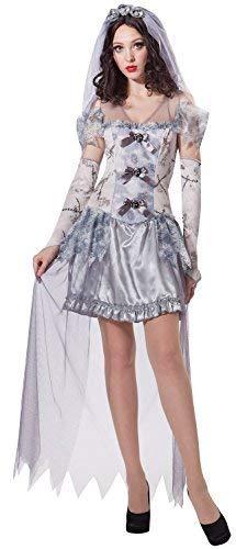 Fancy Me Damen Sexy Zombie Toter Geisterbraut Halloween Hochzeit Kostüm Kleid Outfit UK 10-12-14