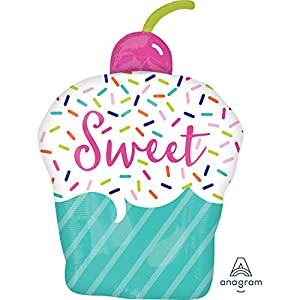 Amscan International- Globo, Color s/shape: sweets&treats cupcake, Small (3851101)