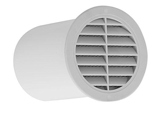 Upmann Muro Ventilador DN 100con rejilla de ventilación, longitud 150mm, color blanco,...