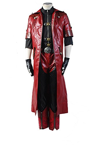 Devil Cry Cosplay May Kostüm - DMC Devil May Cry 4 Dante Cosplay Kostüm Full Set Herren M