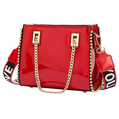 Rifuli® Damen Taschen Handtaschen umhängetasche Rucksäcke Mode frauen lackleder pailletten handtasche tasche umhängetasche handytasche0513#038