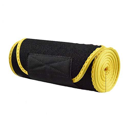 Cintura di Allenamento della Vita, Burning Fat Shaping Small Waist Lining Wicking Materiali di Alta qualità Squisiti Artigianato Elastico Resistente al Vento Caldo e Durevole,Yellow