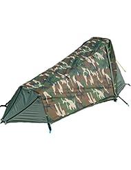 GEERTOP Tienda de Campaña ligera con Varillas de Aluminio - 213 x 101 x 91cm (1,5 kg) - 1 Persona 3 Estaciones para Acampar al Aire Libre (Camouflage)