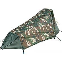 GEERTOP Tenda igloo Bivy Impermeabile Ultraleggera 3 a 4 Stagioni 1 Persona - 213x101x91cm H (1,5kg) - con Struttura in Alluminio per Campeggio (Camouflage)