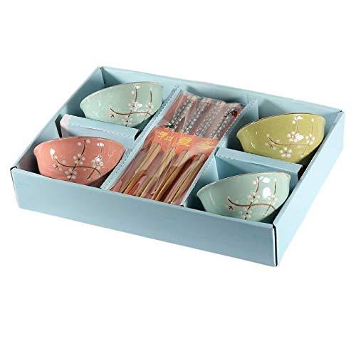 Caja cuencos arroz - Flores cerezo - Tradición Japón