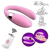Telecomando Senza Fili Clitoride Vibratore Punto G Stimolatore Vagina 7 Velocità Doppia Vibrazione U Forma Anale Massaggiatore Giocattoli del Sesso Impermeabili per le Coppie