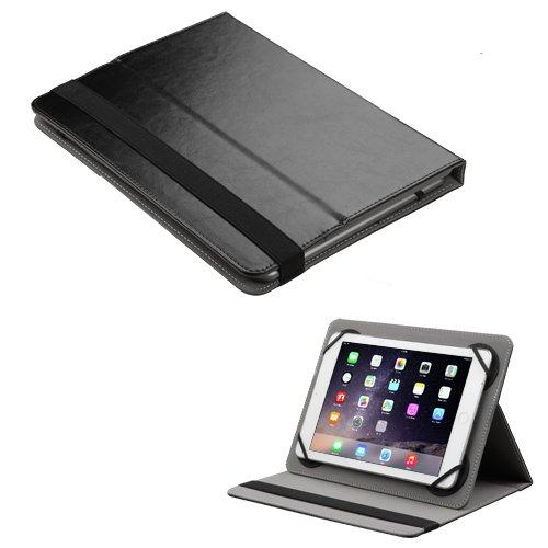 Passend für iPad/Kindle Fire/Samsung/Alcatel etc. MyJacket Schutzhülle für Tablets mit 17,8-20,3 cm (7-8 Zoll), PU-Leder, Schwarz