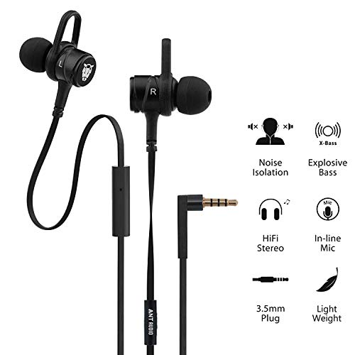 Ant Audio W56 Wired Metal in Ear Stereo Bass Headphone