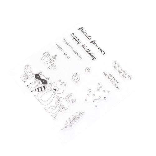 Kalttoy DIY Silikon Klar Stempel Blatt Scrapbooking Album Foto DIY Weihnachten Valentinstag Thanksgiving Geschenke -