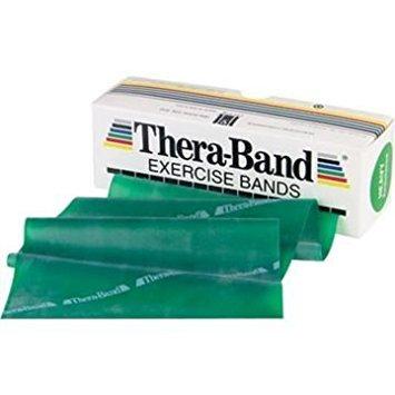 Thera-Band Gymnastikband, Rolle im Spender, starker Widerstand, Grün, ohne Latex, 25m (Thera-band Dispenser Pack)