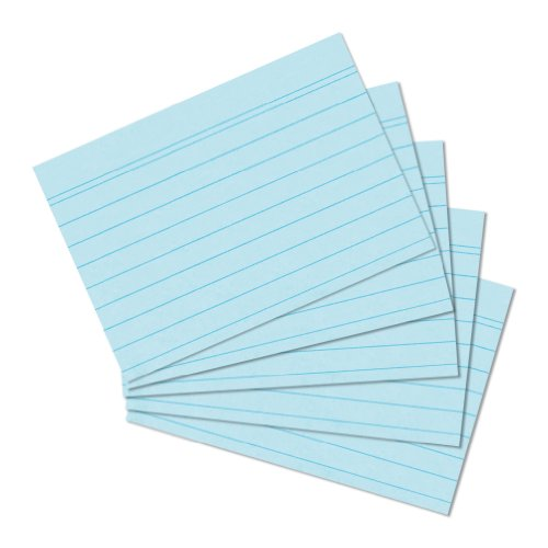 Preisvergleich Produktbild Herlitz 10836187 Karteikarte A5, 100 Stück, blau