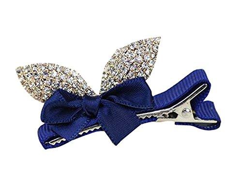 2 pcs belle pince à cheveux fille cristal cheveux ornement bleu pour le mariage / partie