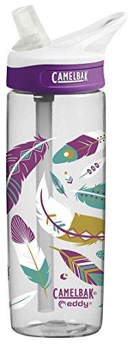CAMELBAK Trinkflasche 'eddy' Mod.16 Tropfsichere Trinkflasche fÃŒr Unterwegs, hoher FlÃŒssigkeitsdurchfluss und optimale Haltbarkeit, schlankes Design, alle Teile SpÃŒlmaschinenfest, große Ã-ffnung fÃŒr leichtes BefÃŒllen und Reinigen, BPA