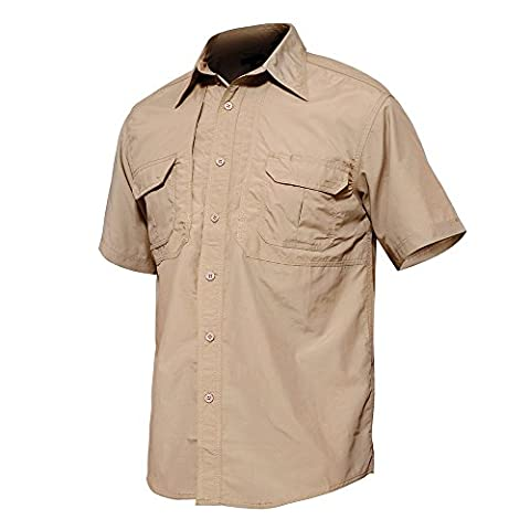 TACVASEN Military Men's Short Sleeve Shirt Lightweight Moisture-Wicking Tee Quick Drying Breathable Top Hiking Camping Hunting Working Trekking Jackets Coat