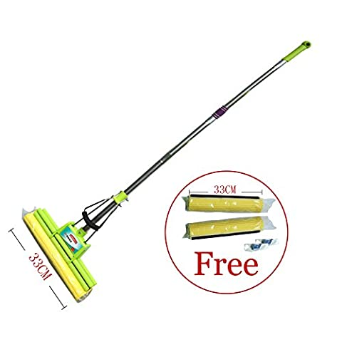 2-Piece Handle Free Refill PVA Upright Easy Cleaning Mop Double Roller Sponge (XL)