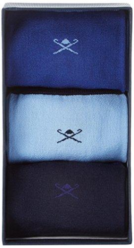 Hackett Herren drei Pack Socken MULTI BLUE Blau (Multi Blue 5AA)