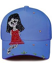 ECYC Mujeres Studded Cristales Rhinestone Gorra de béisbol 36f2ad2061f