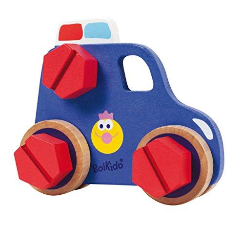 Boikido 80834092 - Konstruktions-Set Auto aus Holz mit 36 Zubehörteilen, Muttern und Rädern, 1 Stück