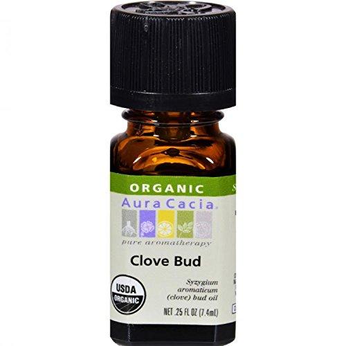 Ess Oil, Organic, Clove Bud, .25 oz ( Multi-Pack) by Aura Cacia