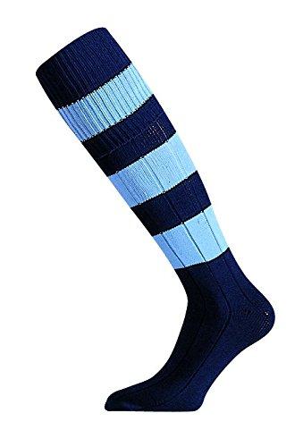 mitre-mercury-calcetines-de-futbol-unisex-color-azul-oscuro-y-claro-tamano-size-7-12