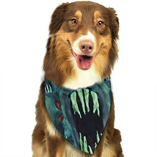 Osmykqe Piranhas Hund Bandana Pet Schal für kleine mittelgroße Hunde Zubehör (Dog Name Tag-camo)