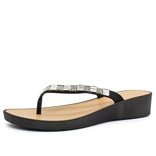 London Footwear , Ouvertes à larrière femme Noir