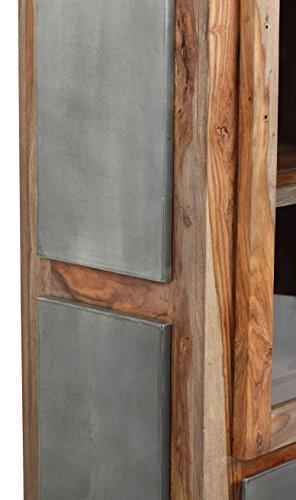The Wood Times Wohnzimmerschrank Massiv Vintage Look Odisha Sheeshamholz, FSC Zertifiziert, BxHxT 67x190x40 cm - 5