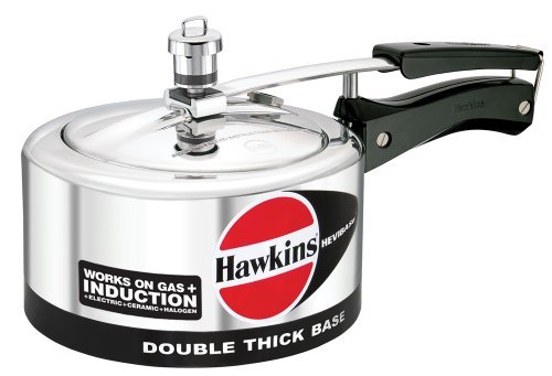 Hawkins Hevibase IH20 2-Litre Induction Pressure Cooker, Small, Silver by Hawkins Hevibase at amazon