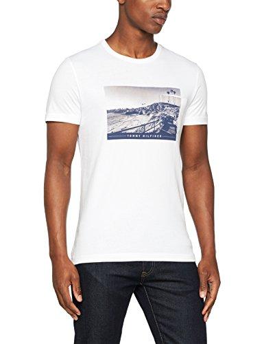 Tommy Hilfiger Herren T-Shirt Darrel C-Nk Tee S/S Rf Weiß (Classic White)
