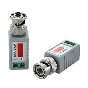 SODIAL (R)2x 1CH Transmetteur Passif Emetteur Recepteur Video UTP Cat5 BNC Balun Camera