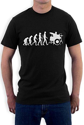 Schlagzeuger Evolution - Geschenk T-Shirt für Drummer T-Shirt Schwarz