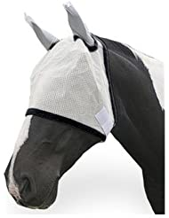 Cheval Blanc Masque Anti-mouches Avec Protection Auditive Poney Cheval S/n S M L XL