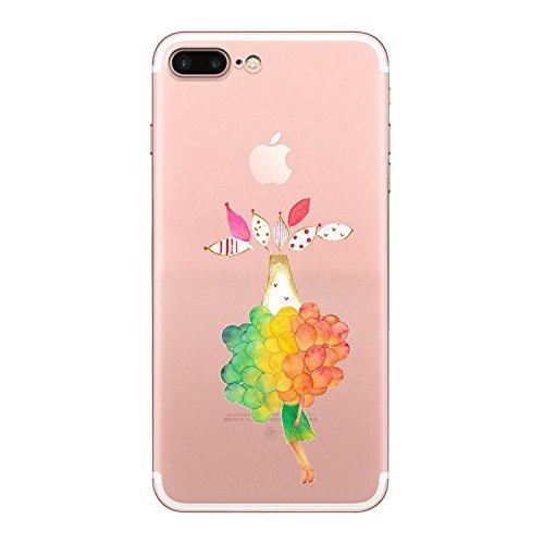 IPHONE 7 Hülle Traumfänger Ballon Karikatur Panda TPU Silikon Schutzhülle Handyhülle Case - Klar Transparent Durchsichtig Clear Case für iPhone 7 (BMW19-1) qq8-1
