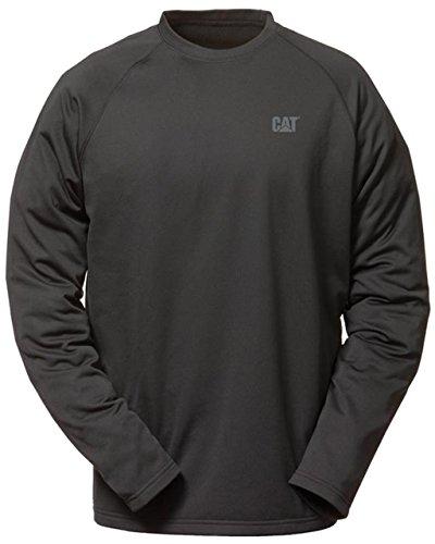 Caterpillar C1499010 Flx Lyr Lange Ärmel Arbeit Neue T-Shirts-Rundhalsausschnitt Black