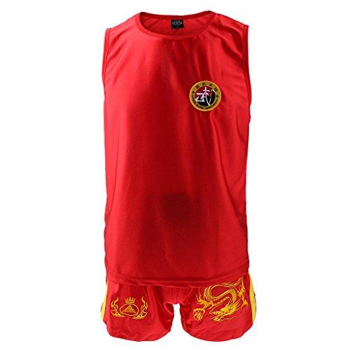 Drache-Muster Taekwondo TKD Karateanzug Kampfsport Dobok Chinese Kung Fu Weste und Shorts