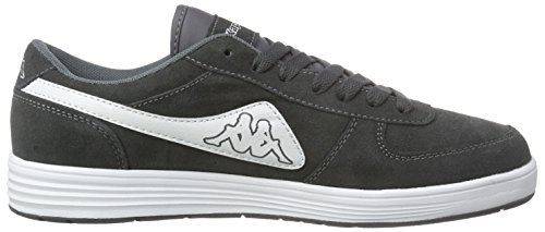 Kappa Trooper Plus Footwear Men, Leather, Baskets Basses Mixte Adulte Gris - Grau (1610 grey/white)