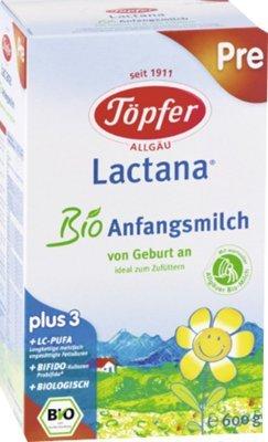 Toepfer Lactana Bio pre, Pulver, 600 g -