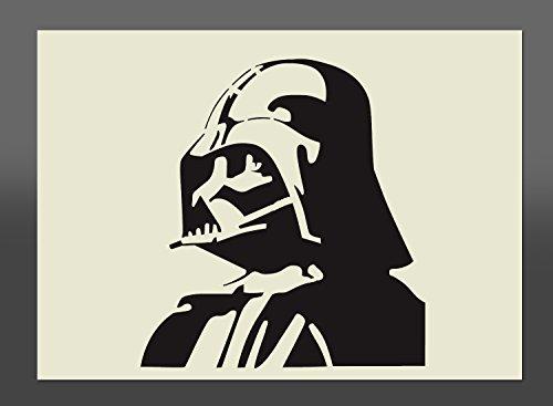 """Plantilla de """"Darth Vader"""" Star Wars de Mylar, A4 297mm x 210mm, decorativo para pintar con spry, esponja..."""