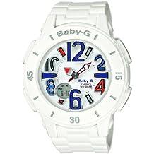 Casio BGA-170-7B2ER - Reloj analógico y digital de cuarzo para mujer con correa de resina, color blanco