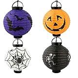 iSuperb de calabaza de Halloween farolillos papel Chloe Bat Skeleton lámpara linternas Party Decoration