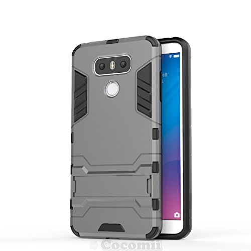 LG G6 Hülle, Cocomii Iron Man Armor NEW [Heavy Duty] Premium Tactical Grip Kickstand Shockproof Hard Bumper Shell [Military Defender] Full Body Dual Layer Rugged Cover Case SchutzhülleH870 H871 H872 H873 H870K LS993 US997 VS988 (Gray) (Cricket-smartphones Galaxy)