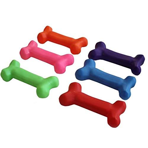 HUNDESPIELZEUG HUNDEKNOCHEN Hunde Knochen Spielzeug QUIETSCHEND und SCHWIMMFÄHIG -