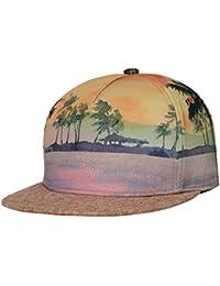 NUZADA Sombrero de Béisbol Estampado Playa Snapback Cap Unisexo Mujer  Hombre Gorra de Sol con Visera 7831d9e0ee8